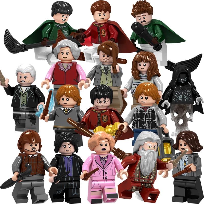 Legoinglys Magic Harri Dobby Malfoy Dumbledore Minerva Snape Hagrid Mini Building Blocks Figures Bricks Toys Gifts For Children