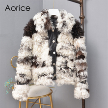 Aorice TX307701 women winter Leisure Real sheep fur coat jacket multiple color overcoat lady fashion genuine fur coat outwear все цены