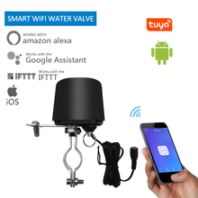лучшая цена tuya Smart WIFI switch for GW-RF water valve home automation system Gas water control valve work with Alexa and Google Home drop