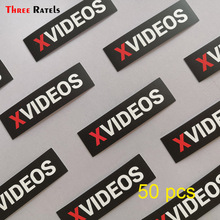 Three ratels 50pcs X video Vinyl Film Motorcycle notebook car Stickers And Decals Auto Accessories Car Styling carcardo 40cm x 200cm car headlight taillight tint vinyl film sticker car smoke fog light viny stickers decals car styling