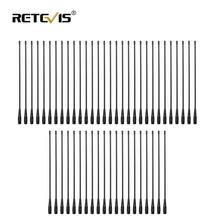 50 stücke RETEVIS RHD 771 SMA F Walkie Talkie Antenne VHF UHF Dual Band 39cm Für Kenwood Retevis H777 RT5R Baofeng UV5R 888S C9030A