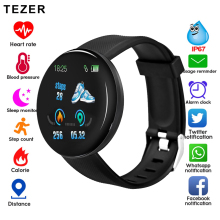 D18 Smart Watch Sleep Tracker Heart Rate Tracker SmartWatch Men Women Blood Pressure Sport Round Smartwatch Blood Oxygen Watch