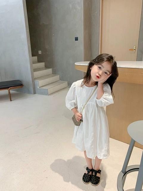 Traje de madre e hijo, vestido blanco coreano, vestido de verano, nueva falda de Hada de temperamento para bebé de madre y mujer