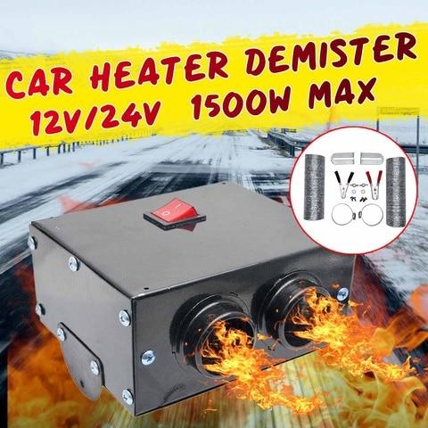 defloster de aquecimento do aquecedor do carro 2 furos 12v 24v 1500w de alta potencia