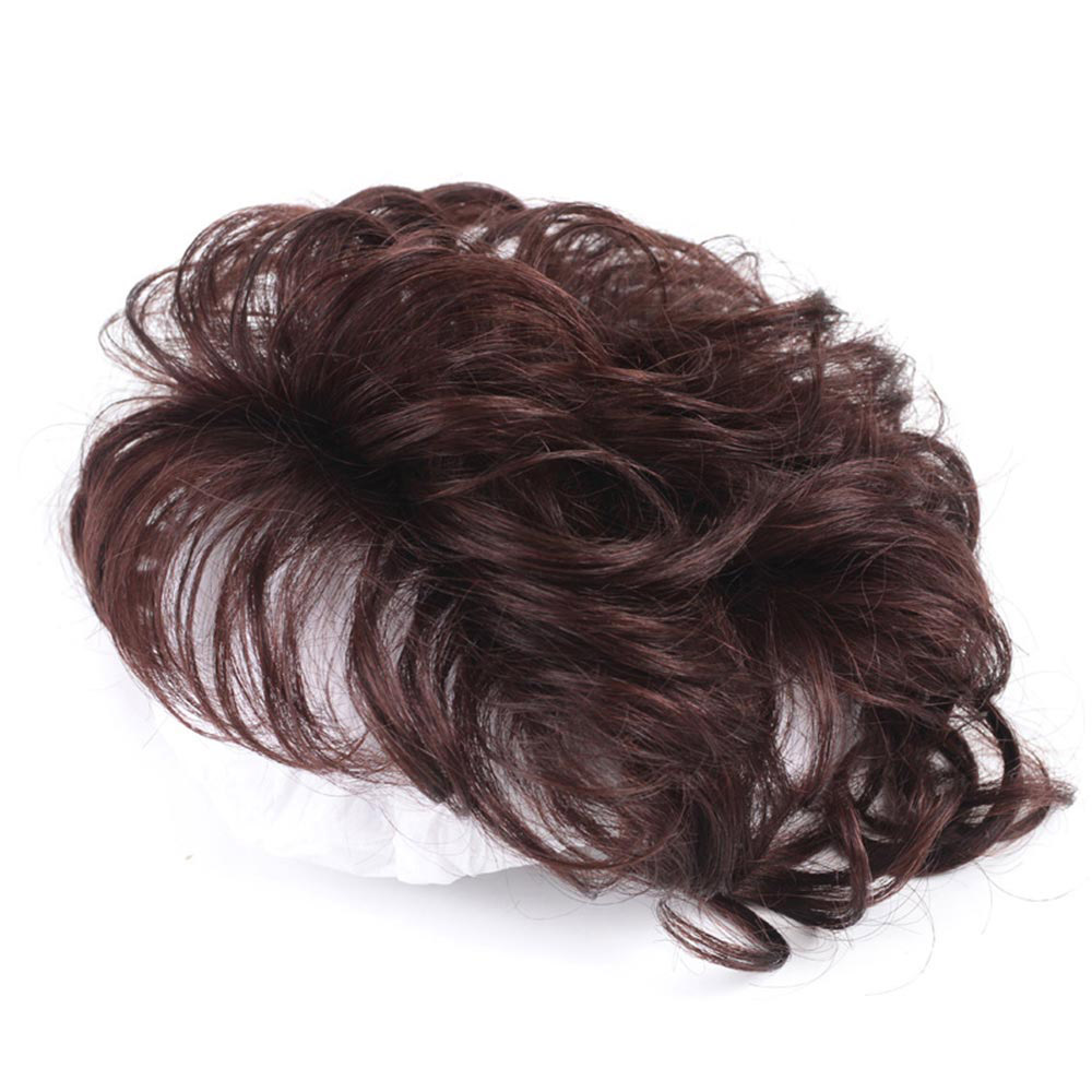 Salonchat Curly Intermediate Silk Base Hair Topper Pure Color Toupee Hairpieces for Women 100% Remy Human Toupee Hair for Women