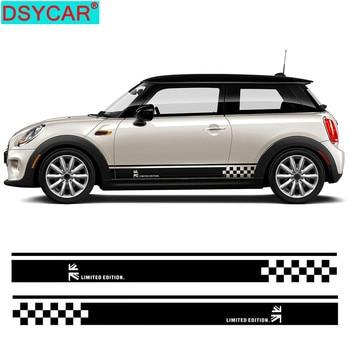DSYCAR 1Pair New Car Side Skirt Decal Sill Door Vinyl Stickers for MINI Cooper R50 R52 R53 R56 R57 R58 R59