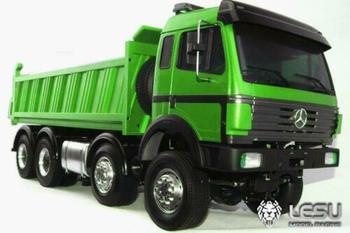LESU 1/14 Bz Hydraulic 8*8 Dumper RC Truck Model Radio Sound DIY Tmy Model THZH0338