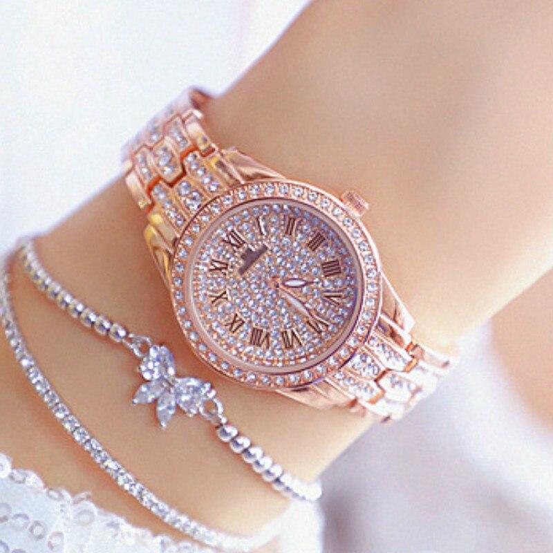 Luxury Diamond Women Watch Rhinestone Jewelry Ladies Bracelet Gold Watches Clock Wristwatch Stainless Steel relogio feminino