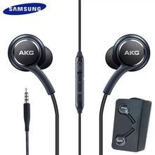 سامسونج غالاكسي S8 s9 S10 الهاتف الذكي سماعة سامسونج سماعات EO-IG955 3.5 مللي متر في الأذن مع ميكروفون سلك سماعة ل AKG