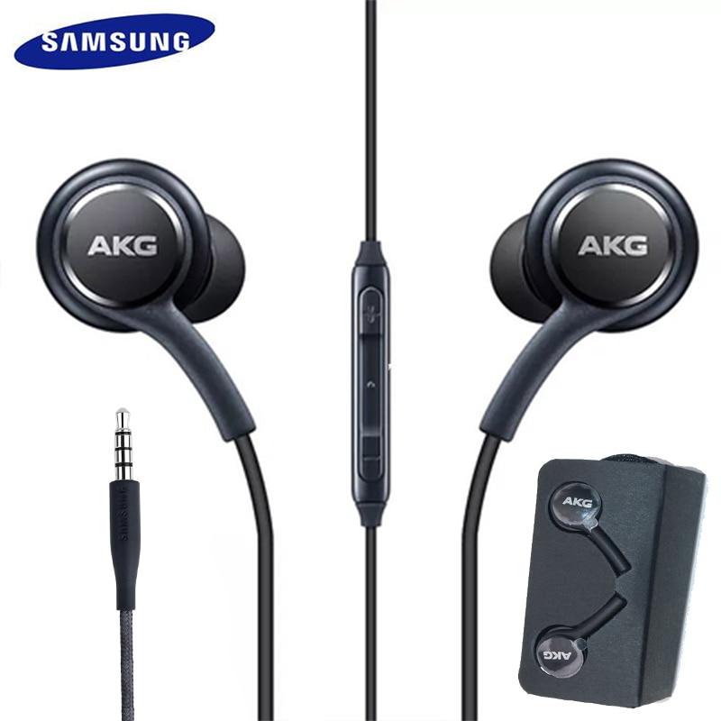 Samsung Galaxy S8 s9 S10 Smartphone słuchawki Samsung słuchawki EO-IG955 3.5mm w-ucho z mikrofonem drutu zestaw słuchawkowy dla AKG