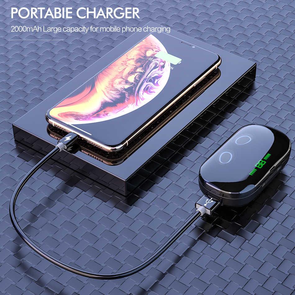 ĐÁ Mini TWS Thật Không Dây Bluetooth Stereo Tai Nghe Thể Thao Với Sạc Hộp Mic Cho iPhone XS MAX Xiaomi