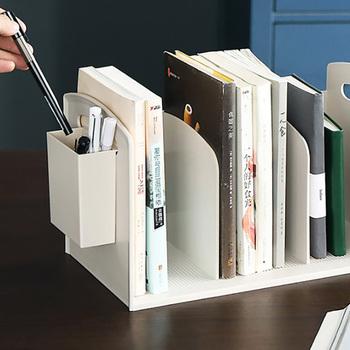 Pulpit regał biurko podłoga mały regał biurko Student Book regał magazynowy prosty regał regał z obsadka do pióra Box tanie i dobre opinie 34*20*18 7cm Nowoczesne Desktop Bookcase Other Nowoczesny chiński