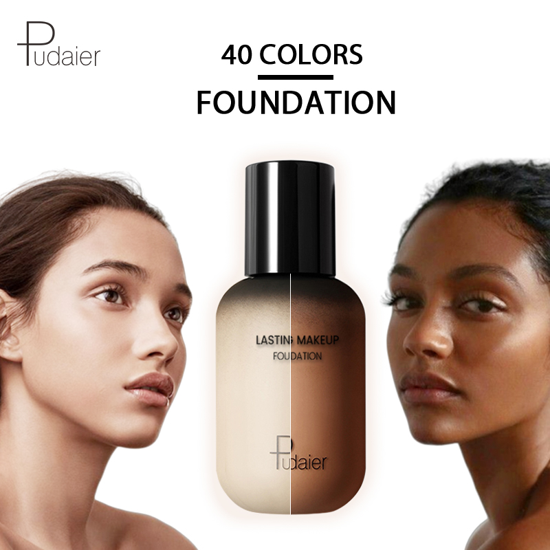 pudaier 40ml professional concealing foundation makeup matte tonal base Liquid cosmetics foundation cream for face full coverage image