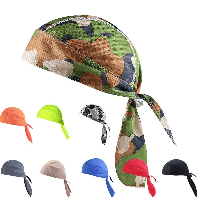 Breathable Lycra Pirate Bandana Men Women Anti-sweat Cycling Cap Sport Under Helmet Liner Road Bike Headband Mtb Headwear Hat