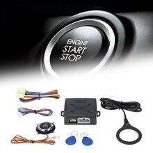 TOSPRA, 12 В, Автомобильная сигнализация, кнопка старта, стоп, двигатель, кнопка, RFID замок, без ключа, система входа, дверь, автоматическая кнопка, центральный замок, безопасность