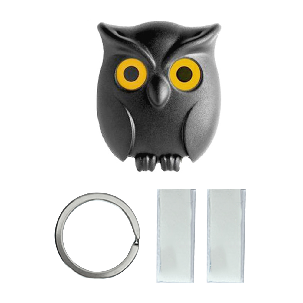 Home Magnetic Cute Durable Hanger Organizer Hook Owl Shape Multifunction Wall Mounted Hanging Key Holder Decoration Keychain