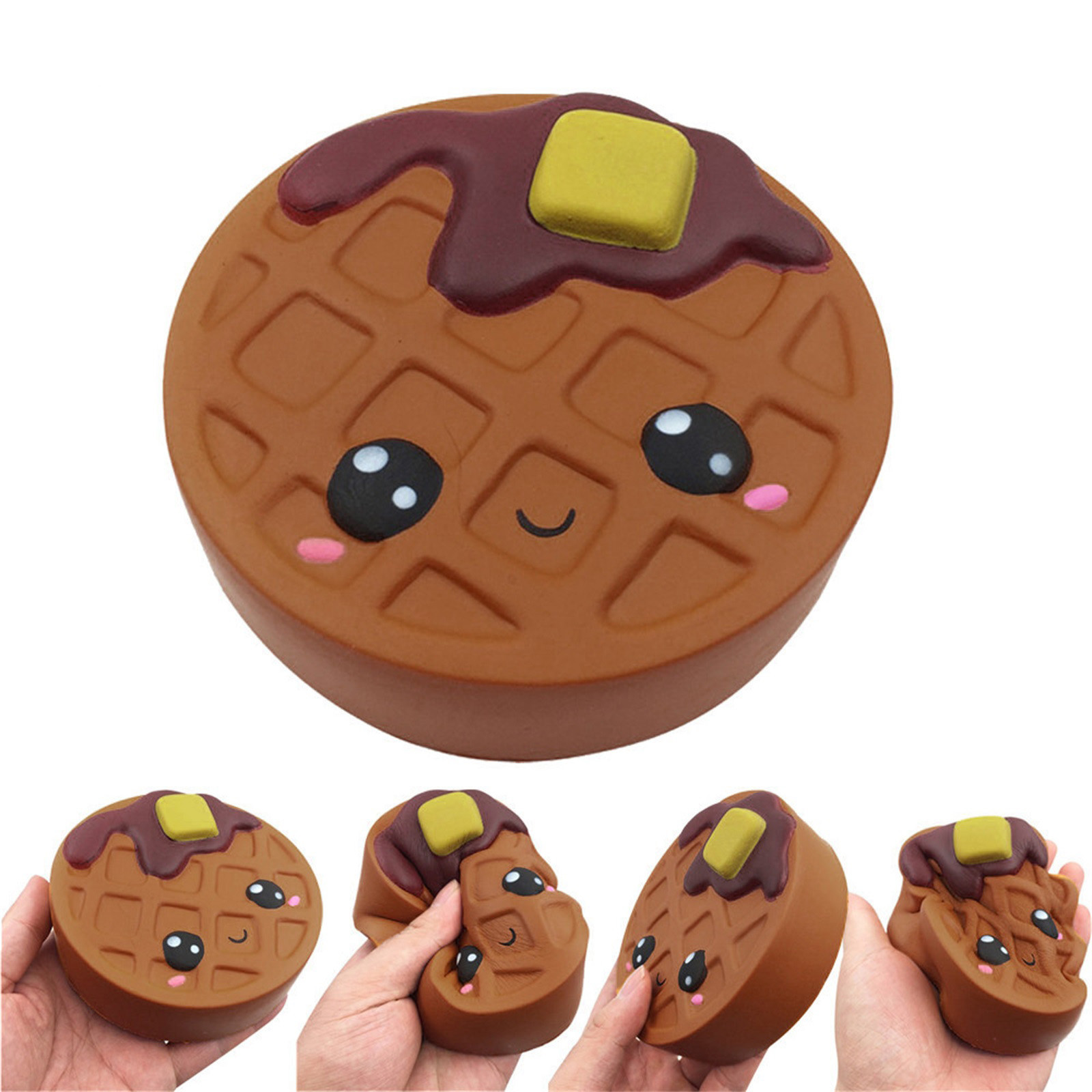 Gift Toy Fidget-Toys Biscuits Antistress-Gadget Chocolates Soft Squishy Cute Kawaii Decompression img1