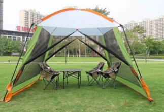 Купить с кэшбэком High quality 300*300*210CM ultralarge 4-8person family party gardon beach camping tent gazebo sun shelter