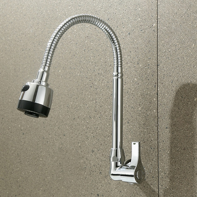 Top-Kitchen Faucet Plumbing Hose Universal Tube Stainless Steel Faucet Can Be Shaped Deformation Tube Splash Faucet Kitchen Fauc
