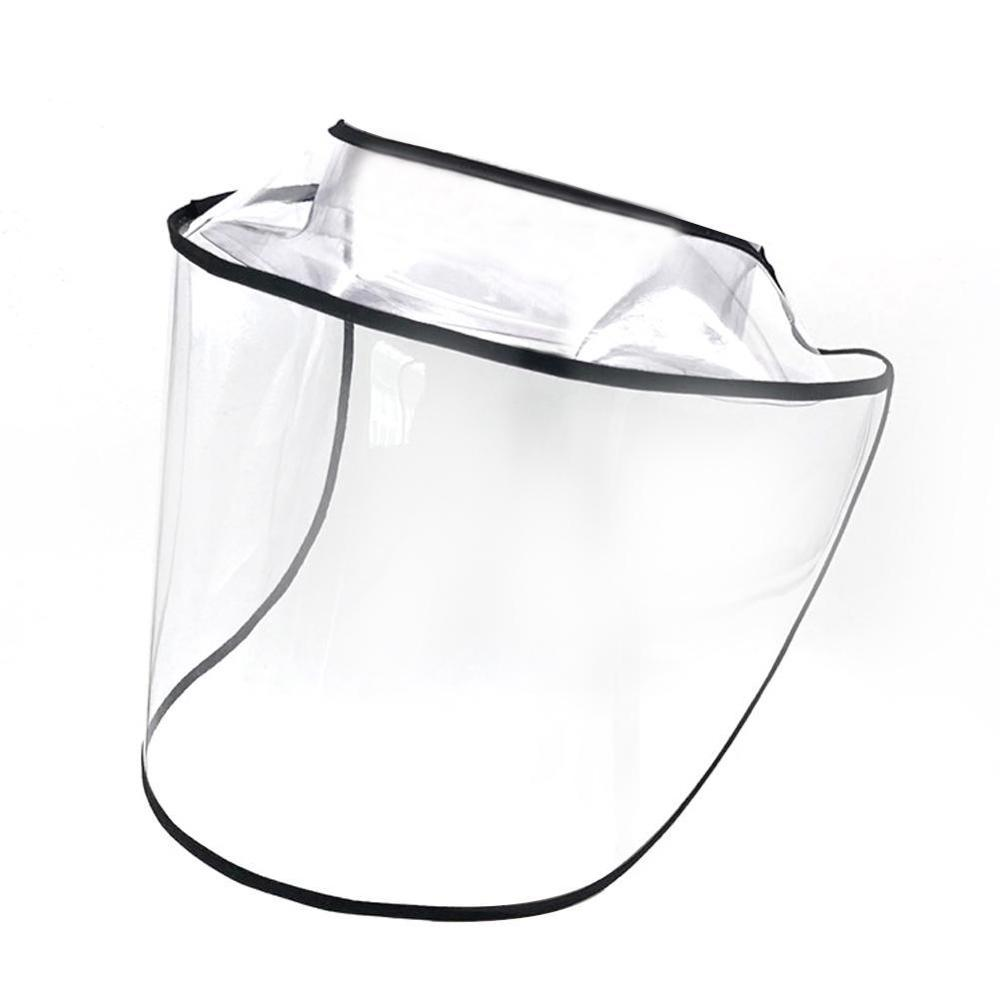 1PCS Transparent Protective Hat Brim Protection Cap Adults Child Removable Outdoor Anti Saliva Splash Face Mask Hot