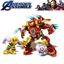 Sy1340 Marvel The Avengers Endgame Iron Man Smash Hulk Buster Building Blocks Toys For Children Hulkbuster Mk46 B821
