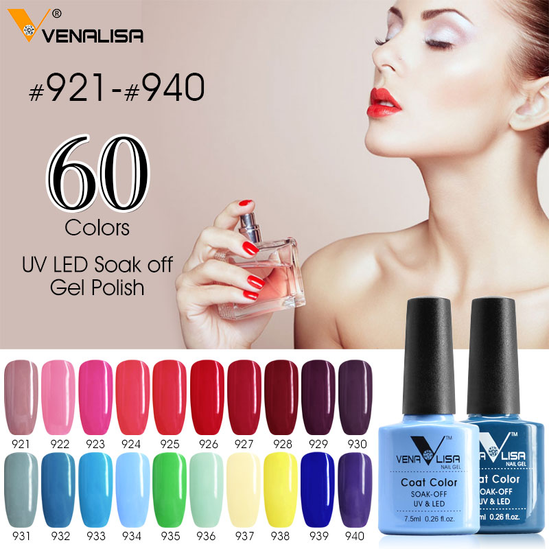 Canni levou verniz gel hot sale nail art diy projeto 60 cores 7.5 ml 61508 Venalisa Soak off Orgânico Inodoro UV Unhas de Gel polonês
