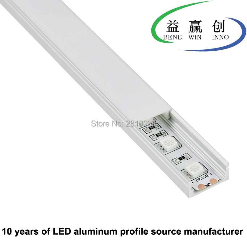 10Sets/Lot U Type Extruded Led Aluminum Profile Anodized Aluminium LED Profile LED Aluminum Channel Profile For Recessed Wall