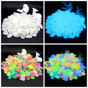 Image 1 - 50/100/300 sztuk świecące w ciemności kamienie świecące kamienie fluorescencyjne jasne kamyki świecące kamienie do akwarium ogród dekoracji