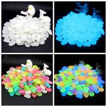 50/100/300Pcs Glow In The Dark Stenen Gloeiende Stenen Fluorescerende Heldere Pebbles Lichtgevende Stenen Voor Aquarium tuin Decoratie