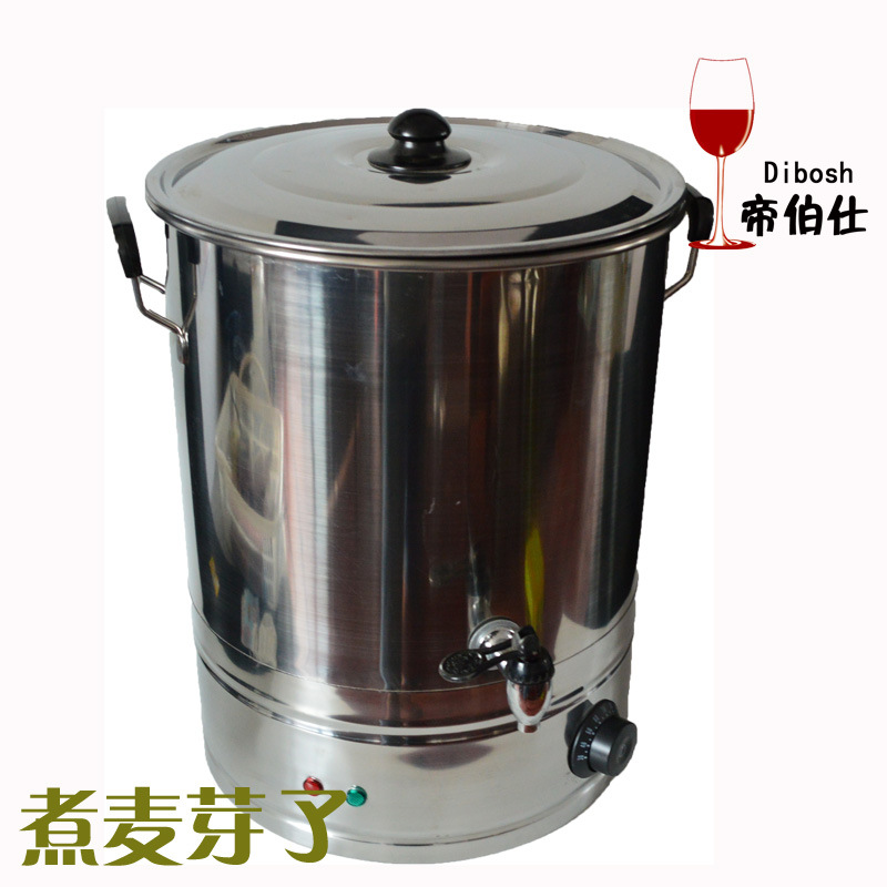 Household Stainless Steel Boiled Water Bucket Insulated Barrel Glycation Bucket Glycation Malt Brewed Beer Equipment 28L/38L