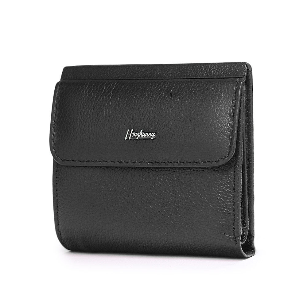 HH Mini Genuine Leather Women's Wallet Small Luxury Female ID Card Holder Wallets Slim Cow Leather Ladies Money Bag Coin Purses