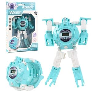 Robot Transformation Wristwatch Toy Mecha Robot Electronic Watch Children Sports Cartoon Watches Kids Xmas Gifts