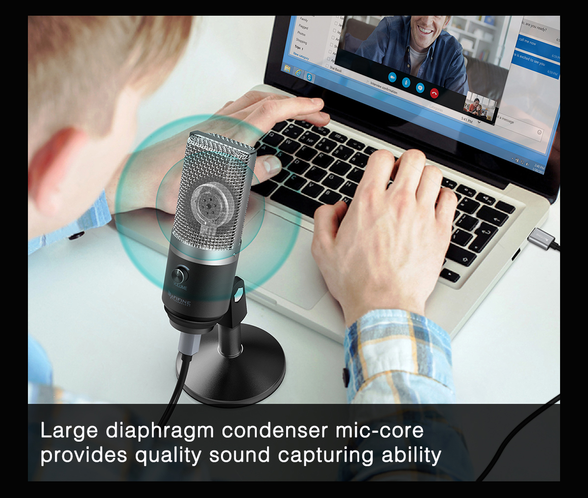 FIFINE Uni-Directional USB Microphone 5