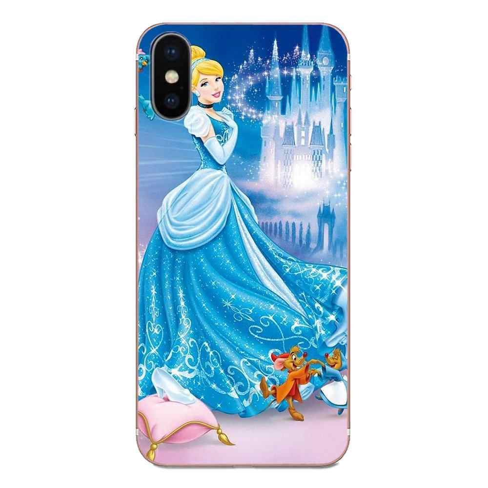 Cartoon Cinderella Glass Slipper Kasteel Voor Samsung Galaxy Note 5 8 9 S3 S4 S5 S6 S7 S8 S9 S10 5G Mini Rand Plus Lite