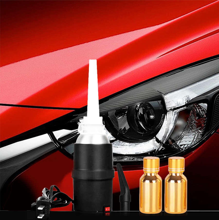 110 220V Headlight Refurbished Electrolytic Atomized Cup Evaporating Cup with 2 X30 ML Repairing Liquids Household Power in Car Headlight Bulbs LED from Automobiles Motorcycles