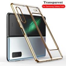 Coque de téléphone Samsung Galaxy pliable, étui de placage transparent pour Samsung Galaxy W2020 F9000 haute transparence