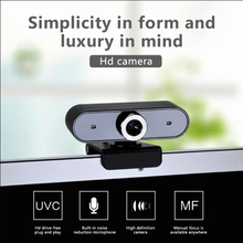 Computer Video HD USB 360 degree rotation Camera microphone 2 in 1 for Student online class home office video will