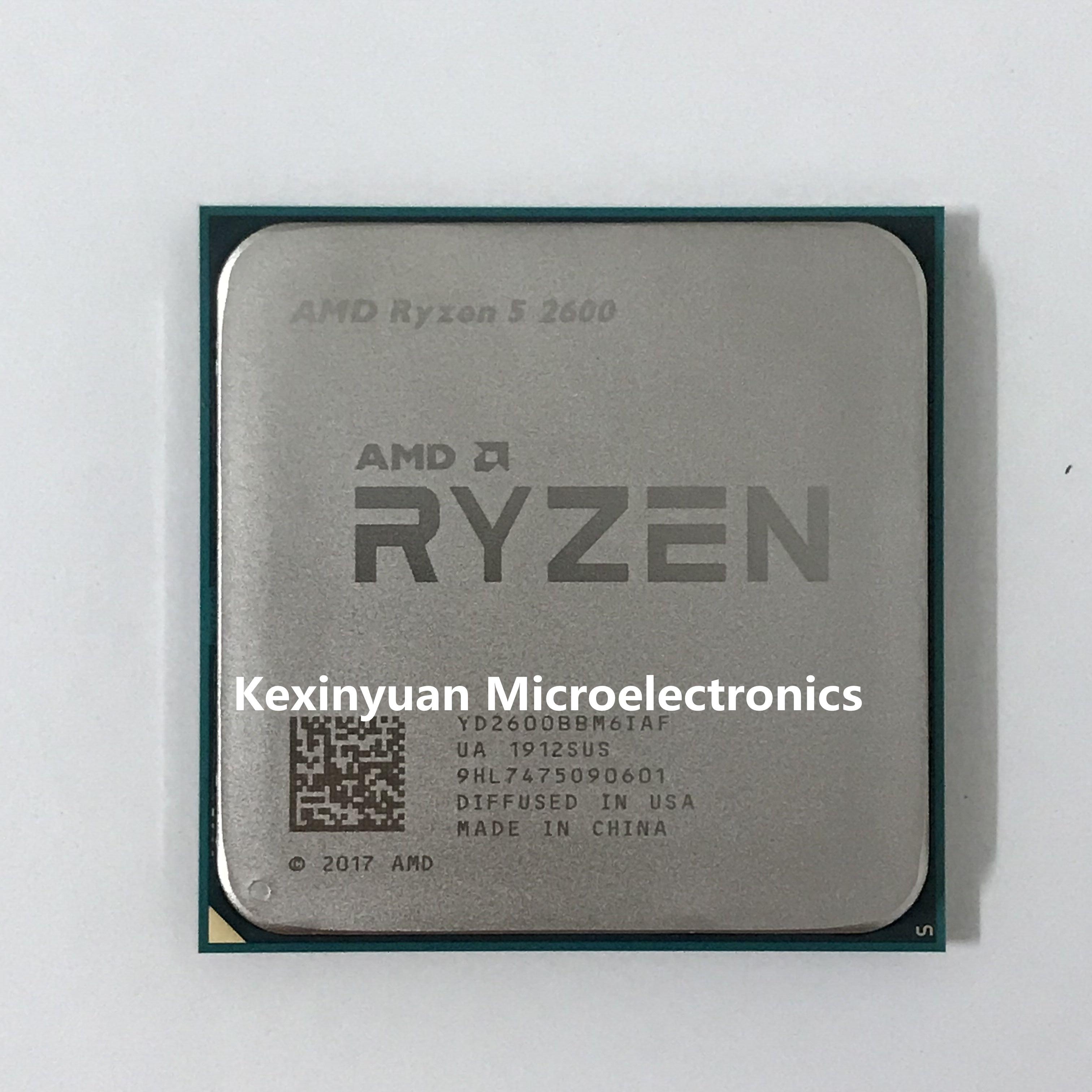 Процессор AMD Ryzen 5 2600 R5 2600 3,4 ГГц шестиядерный двенадцати ядерный процессор 65 Вт Процессор YD2600BBM6IAF Socket AM4