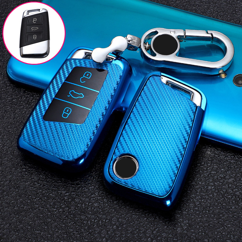 Car key case for volkswagen vw magotan b8 wei lan polo 9n golf 4 3 5 6 6r 7 mk7 mk4 passat b5 b6 b7 b8 touran bora caddy tiguan