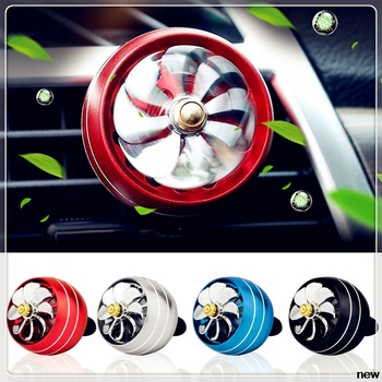 car auto Perfume Air Freshener Mini Fan Auto Air Vent Clip Outlet styling for Ford Transit Ranger Mustang Ka Fusion Focus F-150 image