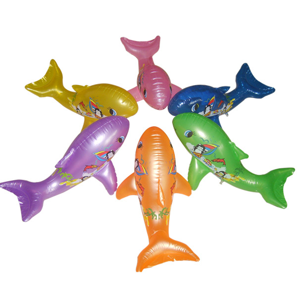 Multi-color Inflatable Dolphin Inflatable Toy Dolphin Decoration Dolphin 60 Cm