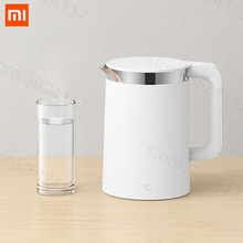 цена XIAOMI Mijia 1.5L / 1800W Smart Electric Water Kettle Pro 304 Stainless Steel 12H Temperature Control Mihome App Control онлайн в 2017 году