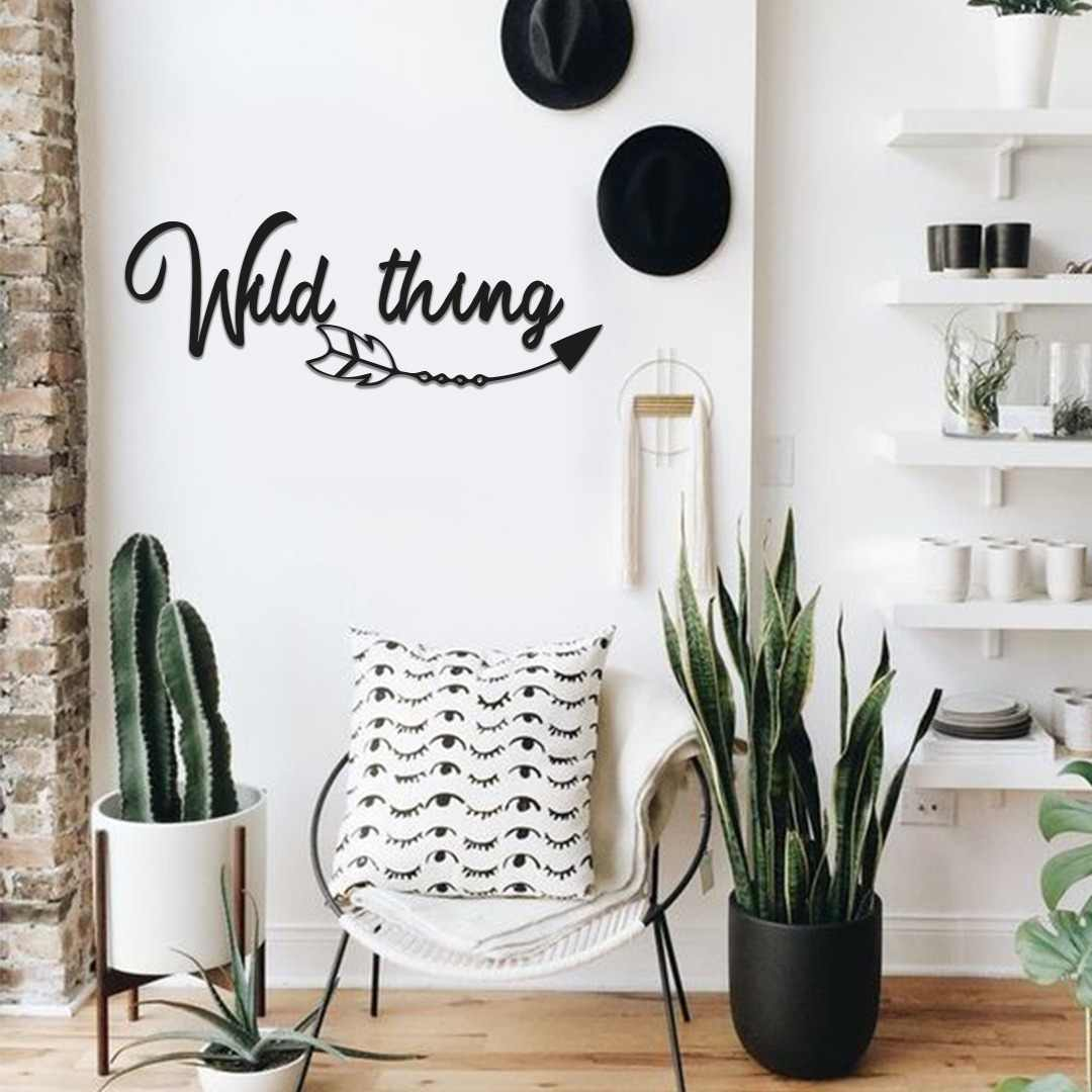 Metal Wall Decor And Art Wild Thing Interior Design Words Wall Decor Metal Phrase The Babyroom Kidsroom Aliexpress