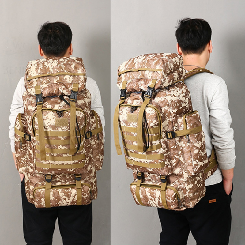Large Capacity Outdoor Climbing Mountaineering Backpack Military Tactical Pack Hunting Shooting Camping Bag