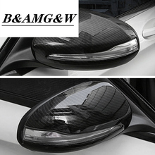 Carbon Fiber Car Rearview Mirror Cap Cover Trim For LHD For Mercedes Benz C w205 E W213 GLC-Class X253 S Class w222 ABS Plastic