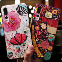 for huawei P20 lite Pro soft silicone Phone cases cute TPU Patterned cover mate20 honor 8 9 mate10