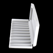 1 قطعة 10X18650 بطارية حامل حافظة 18650 صندوق تخزين حامل أبيض غطاء واقٍ مزخرف لهاتف آيفون غطاء حامل البطارية المنظم الحاويات