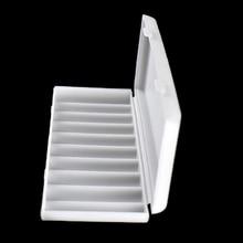 1 adet 10X18650 pil tutucu kılıf 18650 saklama kutusu tutucu beyaz sert çanta kapak pil tutucu organizatör konteyner