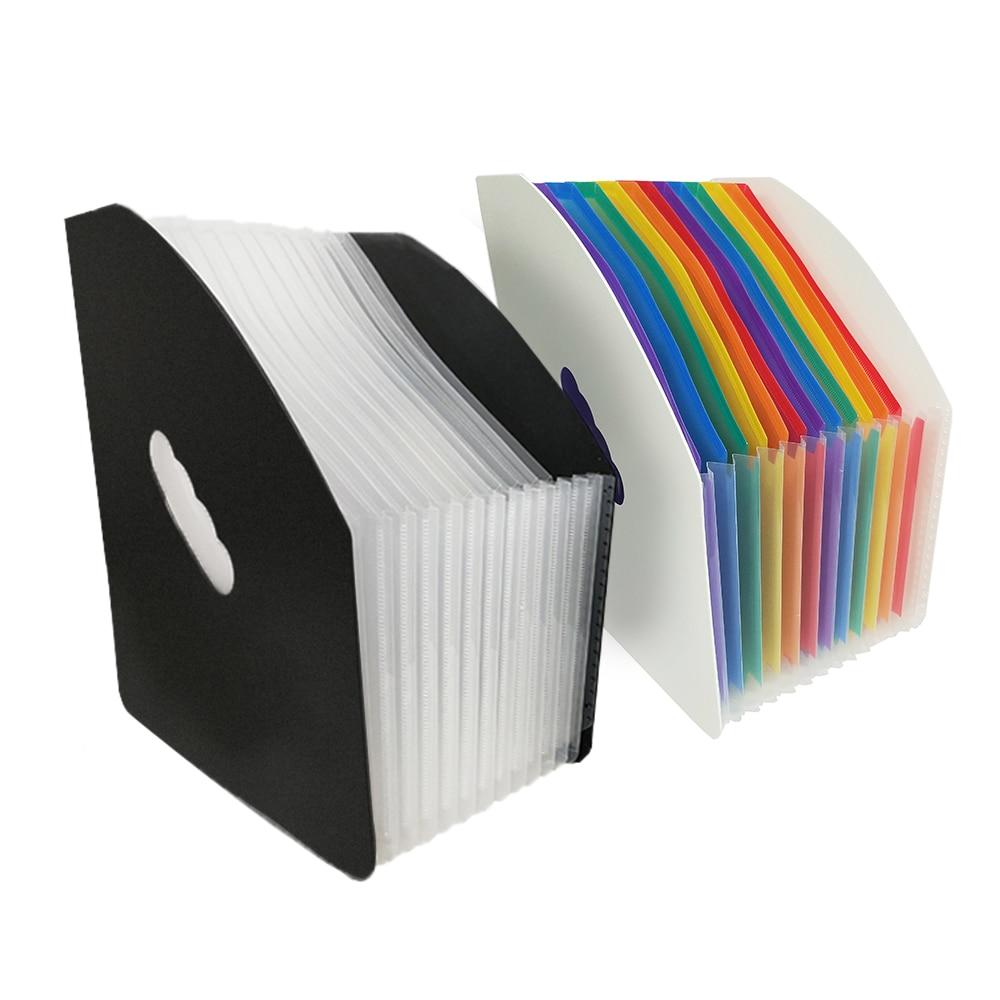 13-Pocket Vertical Expanding File Folder A4 Letter Size Desktop Document Organizer For School Ofiice