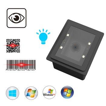 2D Embedded QR Code PDF-417 Data Matrix USB Wired Barcode Scanner USB Bar Code Reader Wired ls05 handheld usb wired 2d barcode reader